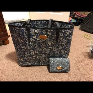 Michael Kors large tote and wallet
